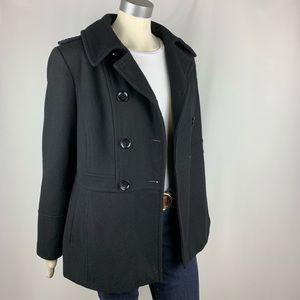 Michael Kors | Pea Coat Black Wool Blend
